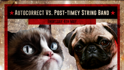 First Thursday After Party! Infinite Room: Autocorrect vs. The Post – Timey String Band