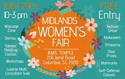 Midlands women s fair one columbia for Columbia craft show 2017