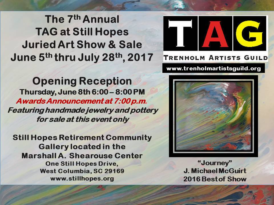 Tag at still hopes reception and awards ceremony presented for Columbia craft show 2017