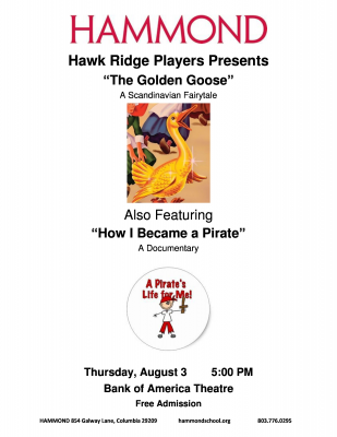 Hawk Ridge Players Present The Golden Goose and How I Became a Pirate