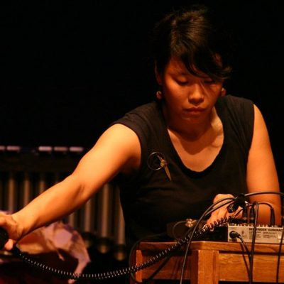 Bonnie Jones with the USC Experimental Music Works...