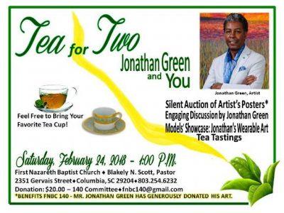 TEA FOR TWO: ARTIST JONATHAN GREEN & YOU