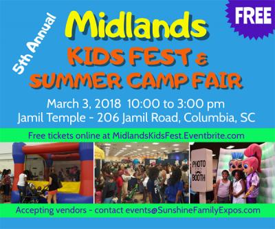5th Annual Midlands Kids Fest & Summer Camp Fa...