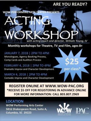 Acting Class presented by WOW Productions | One Columbia