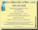 SATURDAY THERAPUTIC PAINTING CLASS