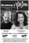 Clayton King & Vicky Henderson sing Broadway at Villa Tronco
