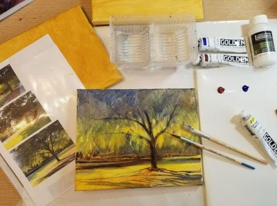 Painting Simple Landscapes in Acrylics