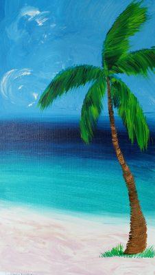 Mixed Media - Painting Palm Trees