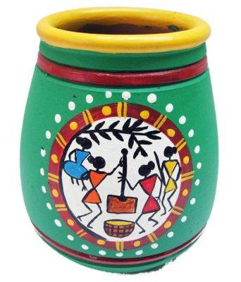Warli Painting On Pots Instruction By Jugnu Verma One Columbia