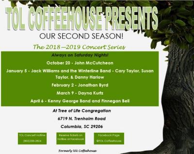 TOL Coffeehouse Presents John McCutcheon on October 20, 2018.