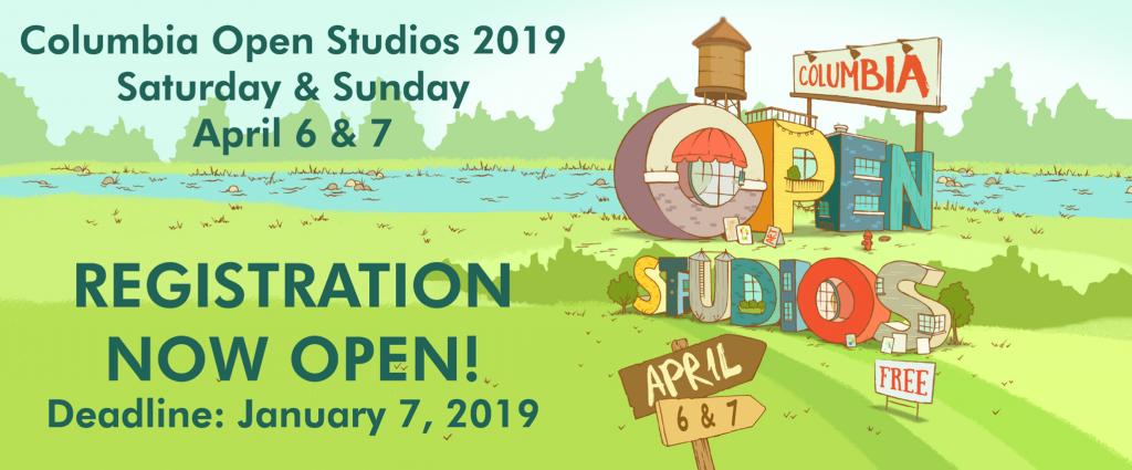 Columbia Open Studios 2019 Registration for Artist...