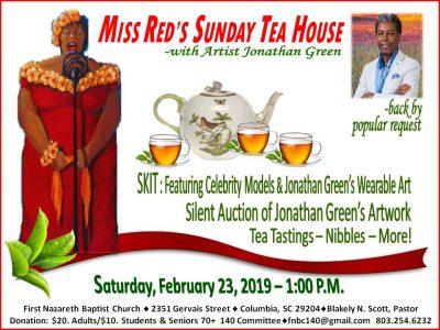 Miss Red's Sunday Tea House w/Artist Jonathan Gree...