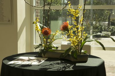 Ikebana Flower Arrangement Demonstration and Display