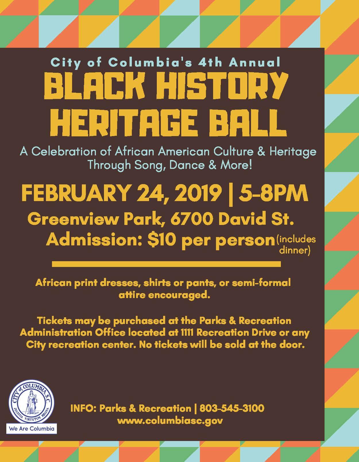 Black History Heritage Ball | One Columbia