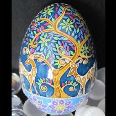 Pysanky (Ukranian egg created with a written wax t...