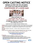 Casting Call for Confessions of a Good Man Stage Play & DVD Recording