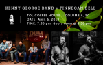 TOL Coffeehouse presents the Kenny George Band with opening act, Finnegan Bell on Saturday, 4/6