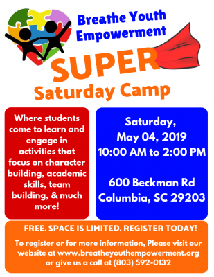 Breathe Youth Empowerment SUPER Saturday Camp