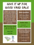Give It Up For Good Yard Sale
