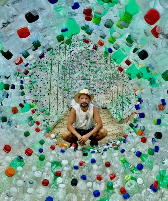 Karl L. Larsen's Bottle Sculpture Unveiling