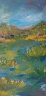 """""""Wide-Open Spaces: Alicia Leeke Makes Her Mark with New Abstract Landscape Paintings"""""""