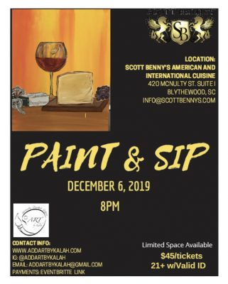 Scott Benny's Paint and Sip: Wine & Cheese wit...
