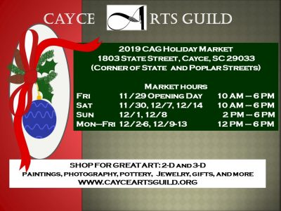 2019 Cayce Arts Guild Holiday Market