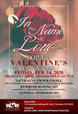 In The Name of Love Pop-up Valentine's Improv Show