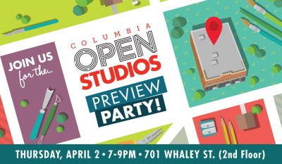 CANCELED: Columbia Open Studios 2020 Preview Party...