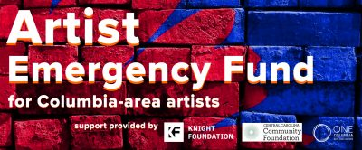 Artist Emergency Fund Banner for Columbia-Area artists