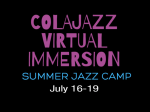 ColaJazz Virtual Immersion Summer Jazz Camp