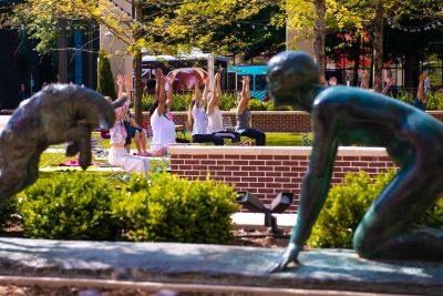 Yoga on Boyd Plaza