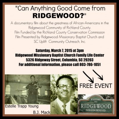 """Can Anything Good come from Ridgewood?"""