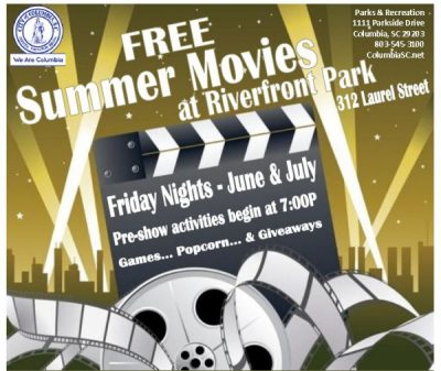 Movies In Columbia Sc >> Summer Movies At The Riverfront Park Presented By City Of