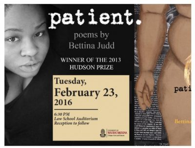 Lecture and Reading by Bettina Judd, author of Patient
