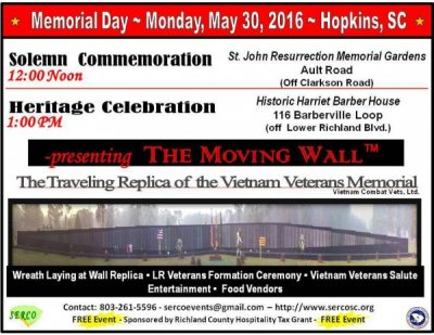 Lower Richland Memorial Day Celebration 2016: The Moving Wall