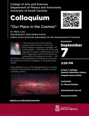 "Physics & Astronomy Colloquium:  ""Our Place in the Cosmos"""