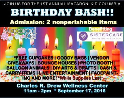 1st Annual Macaroni Kid Columbia Birthday Bash Expo