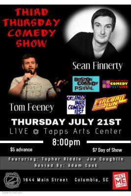 Third Thursday Comedy Night with Sean Finnerty and Tom Feeney