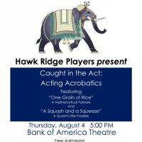 Hawk Ridge Players Present Acting Acrobatics