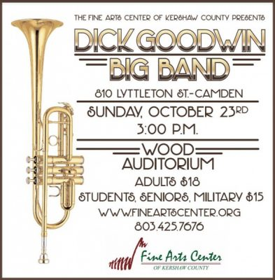 Dick Goodwin Big Band at Fine Arts Center of Kershaw County