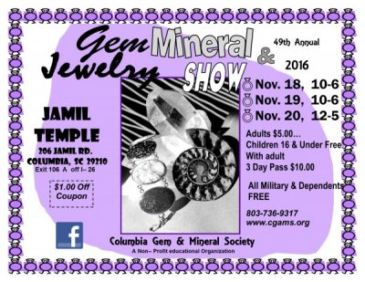 49th Annual Gem, Mineral, & Jewelry Show