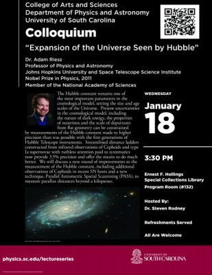 "Physics & Astronomy Colloquium:  ""Expansion of the Universe Seen by Hubble"""