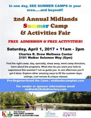 2nd Annual Midlands Summer Camp & Activities Fair