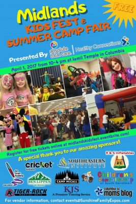 4th Annual Midlands Kids Fest & Summer Camp Fair