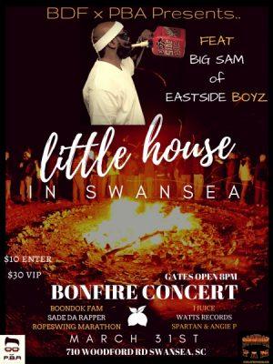 """little house in swansea """"bonfire concert"""" feat big sam (lil jon & eastside boyz)"""
