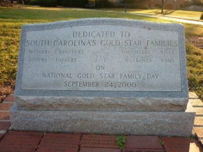 Dedication to South Carolina Gold Star Families