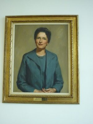 Lucy Hampton Bostick Portrait and Plaque