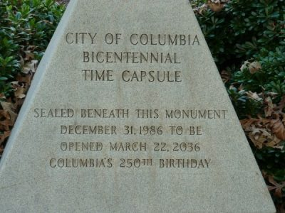 City of Columbia Time Capsule