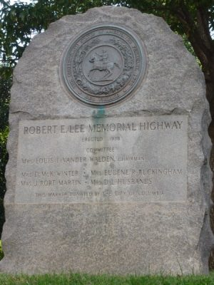 Robert E. Lee Memorial Highway Marker